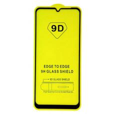 """Защитное стекло """"Полное покрытие"""" для Huawei Honor 9A/Y6p Черное"""