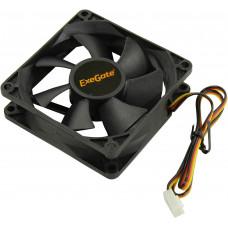 Вентилятор ExeGate ExtraSilent ES08025H3P, 80x80x25 мм, гидродинамический, 3pin, 1800RPM, 21dBA