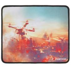 """Коврик для мыши Гарнизон GMP-135, рисунок- """"""""дроны"""""""", размеры 250*200*3мм, ткань+резина, оверлок"""