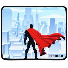 """Коврик для мыши Гарнизон GMP-145, рисунок- """"""""супергерой"""""""", размеры 250*200*3мм, ткань+резина, оверлок"""