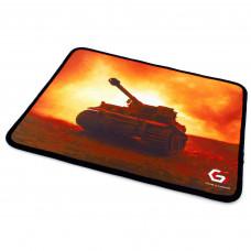 "Коврик для мыши Gembird MP-GAME33, рисунок- """"танк"""", размеры 250*200*3мм, ткань+резина, оверлок"