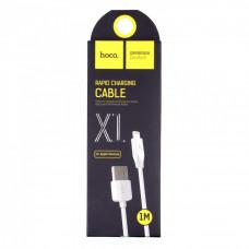 Кабель USB 2.0 hoco X1, AM/Lightning, белый, 1м