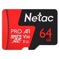 MicroSD card Netac P500 Extreme Pro 64GB, retail version w/o SD adapter