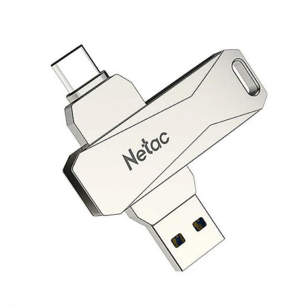 USB Drive Netac U782C dual USB3.0+TypeC 64GB, retail version