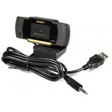 """Веб-камера ExeGate GoldenEye C270 HD (матрица 1/3"""" 1 Мп, 1280х720, 720P, USB, микрофон с шумоподавлением, универсальное крепление, кабель 1,5 м, Win Vista/7/8/10, Mac OS, черная)"""