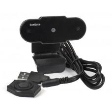 """Веб-камера ExeGate EX287384RUS BlackView C310 (матрица 1/3"""" 0,3 Мп, 640х480, 480P, шторка, USB, фиксированный фокус, микрофон с шумоподавлением, универсальное крепление, отверстие под штатив, кабель 1,5 м, Win Vista/7/8/10, Mac OS, черная)"""