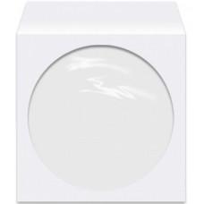 Конверт VS для CD бумажный с окном, с вырубным язычком, белый