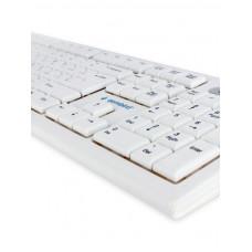 Клавиатура Gembird KB-8354U, USB, бежевый/белый, 104 клавиши, кабель 1,45м