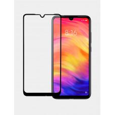 """Защитное стекло """"Премиум"""" для Xiaomi Redmi Note 7/7 Pro Черное"""