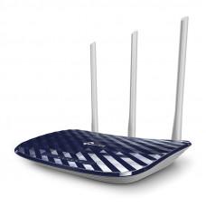 Wi-Fi роутер TP-Link Archer C20 (RU), Dual Band, (433Мбит/с на 5 ГГц + 300Мбит/с на 2,4 ГГц) 4 порта 100 Мбит/с, 3 фиксированных антенны