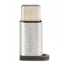 Адаптер MicroUSB - Type-C Remax RA-USB1 Серебро