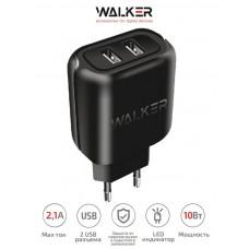 СЗУ USB 2,1A WALKER WH-27 (2USB) черный