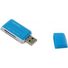 Устройство ч/з карт памяти 5bites RE2-102BL USB2.0 / ALL-IN-ONE / USB PLUG / BLUE