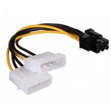 Кабель Gembird Разветвитель питания , 2xMolex->PCI-E 6pin, для подкл. в/к к б/п CC-PSU-6