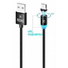 Кабель USB - micro USB YOLKKI Magnetic 01 NEW box черный (1м) /max 2A/