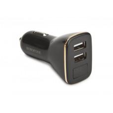Автомобильное зарядное устройство USB Borofone BZ11 (2.1A, 2 порта, с дисплеем) Белый