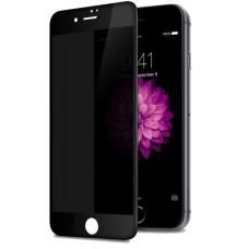 Защитное стекло Антишпион для iPhone 7/8/SE (2020) Черное Закалённое, полное покрытие