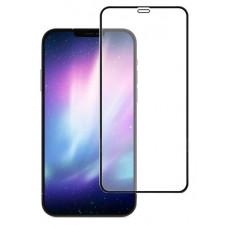 """Защитное стекло """"Оптима"""" для iPhone 12 mini Черное (Закалённое, полное покрытие)"""