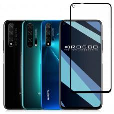 """Защитное стекло """"Полное покрытие"""" для Huawei Honor 30/30 Premium/Nova 7 Черное"""