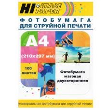 Фотобумага матовая двусторонняя (Hi-image paper) A4, 190 г/м, 100 л.