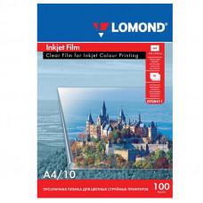 Пленка Lomond PET Ink Jet Film – прозрачная, А4, 100 мкм, 10 листов, для струйной цветной печати.