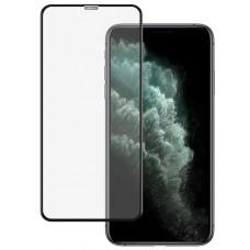 Защитное стекло Тонкое для iPhone Xs Max, 11 Pro Max Черное Полное покрытие 0,25мм