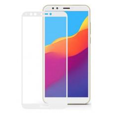 "Защитное стекло ""С рамкой"" для Huawei Y5 2018, Y5 Prime 2018, Y5 Lite 2018, Honor 7A Белое"