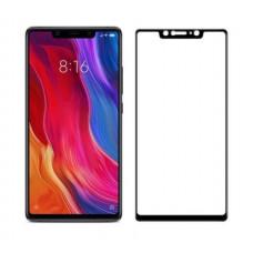 Защитное стекло для Xiaomi Mi 8 SE Черное Полное покрытие