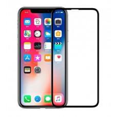 Защитное стекло Тонкое для iPhone Xr/11 Черное Полное покрытие 0,25мм