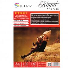 Фотобумага A4 160г/м 100л глянцевая SHARCO