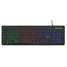 Клавиатура с подсветкой Gembird KB-240L, USB, черный, 104 клавиши, подсветка Rainbow, круглые клавиши, кабель 1.5м