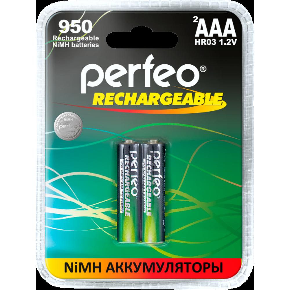 Аккумулятор PERFEO AAA HR3 950mAh (блистер/2шт)