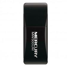 Сетевой адаптер USB2.0 адаптер Mercusys MW300UM, 300Мбит/с, компактный