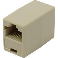 Коннектор проходной адаптер RJ45 кат.5e VCOM соединительный RJ-45/RJ-45 VTE7713