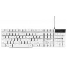 Клавиатура Гарнизон GK-200, USB, белый, механизированные клавиши