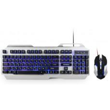 """Клавиатура + мышь игровой Гарнизон GKS-510G черный/серый, металл, подсветка,код """"Survarium"""", 2000"""