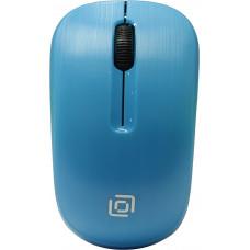 Мышь Oklick 525MW голубой оптическая (1000dpi) беспроводная USB (2but)
