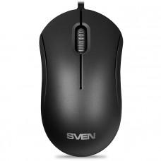 Мышь SVEN RX-60 USB чёрная (2+1кл. 1000DPI, каб. 0,7м, автосмотка, блист.)